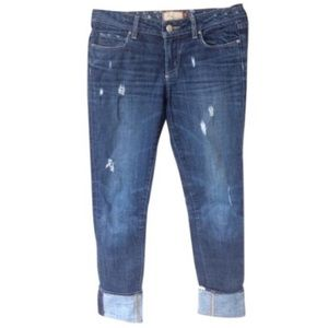 Paige Distressed Cropped Skyline Drive Jeans EUC